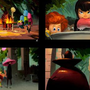 Desenvolvimento visual do filme Hotel Transylvania 2, por Chin Ko
