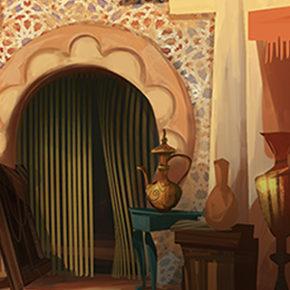Artes do filme Tadeo Jones 2, do LightBox Animation, por Luis Mejía
