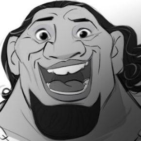 Character Designs de Borja Montoro para o filme Moana!