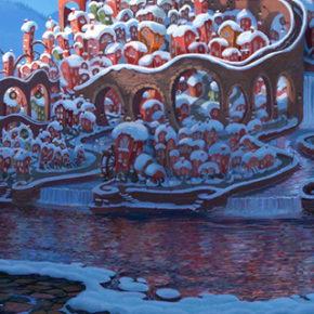 Artes de Yarrow Cheney para o filme The Grinch, da Illumination