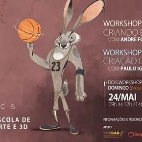 Workshops de maio na ICS, com André Forni e Paulo Ignez