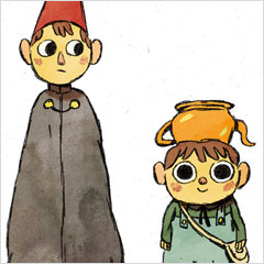 Personagens da minissérie Over the Garden Wall, por Mikkel Sommer