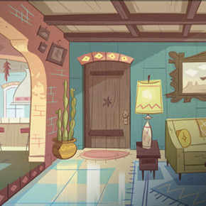 Artes de Rafael Hurtado para o seriado Star Vs. the Forces of Evil