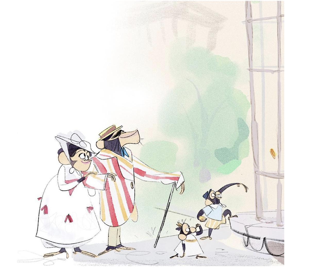 Character Designs Do Filme Mary Poppins Returns Por James