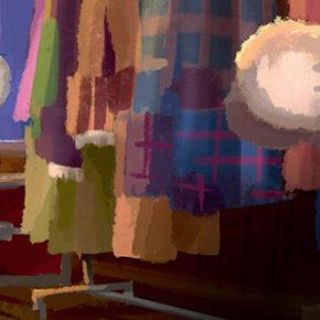 Artes criadas por Aurèlien Predal para o filme Sing, da illumination