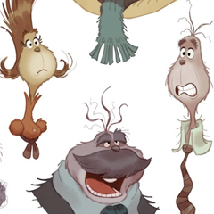 Character Designs do filme The Grinch, por Daniel Fernández Casas