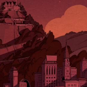 Background Designs da série DuckTales, por Luciano Herrera