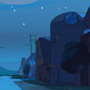 BG Paintings de Kat Tsai para o seriado Steven Universe Future