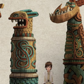 Artes de Kirsten Kawamura para filmes How to train your Dragon 1, 2, 3