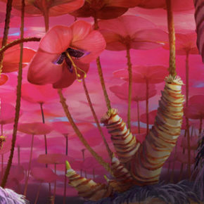 Artes do filme The Croods, por Margareth Wuller